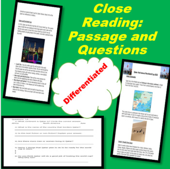 Reading Comprehension Passage and Differentiated Questions: Non-Fiction