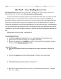 Close Reading Passage for Steinbeck's The Pearl