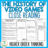 History of Video Games Close Reading Comprehension Passage