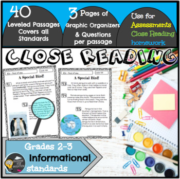Close Reading Passages 2nd/3rd Grade (Informational)