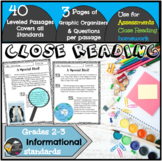 Close Reading Passages/Reading Assessments 2nd/3rd Grade (Informational)