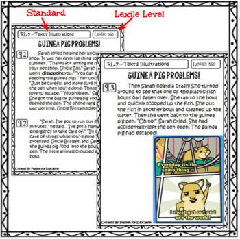 Close Reading Passages 2nd/3rd Grade (Literature)