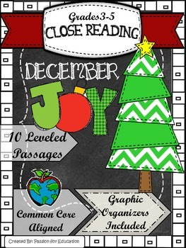 Close Reading Passages 3rd-5th grade DECEMBER Theme (Infor