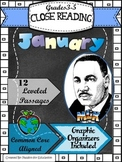 Close Reading Passages 3rd-5th grade January Theme (Inform