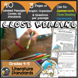 Close Reading Passages/Reading Assessments 4/5th grade (Literature Texts)