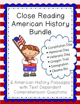 Close Reading Passages - American History Bundle