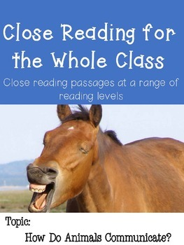 Close Reading Passages: Animal Communication