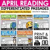 April Reading Comprehension Passages Bundle   DIGITAL & PRINTABLE