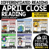 Close Reading Passages - April-Themed - Differentiated Rea
