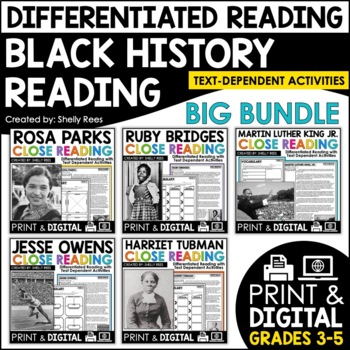 Close Reading Passages - Black History - Differentiated Re