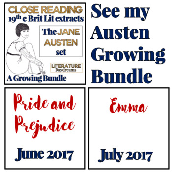 Close Reading Passages: British Literature Jane Austen {Freebie Taster}
