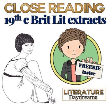 Jane Austen Close Reading Passages {Freebie Taster}
