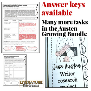 Jane Austen Close Reading Passages {Freebie Taster}