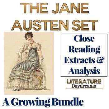 Close Reading Passages: British Literature Jane Austen {Growing Bundle}
