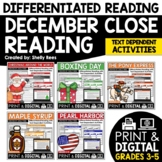 Close Reading Passages - December-Themed Differentiated Re