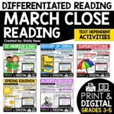 Reading Comprehension Passages and Questions - March Close Reading Bundle