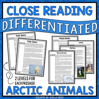 Arctic Animals Unit Reading Comprehension Passages and Questions Bundle