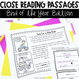 Close Reading Passages: End of the Year Edition