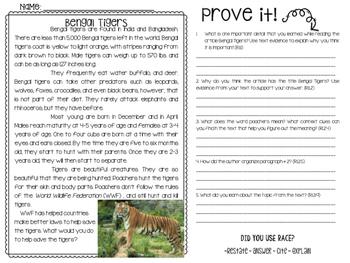 Close Reading Passages - Endangered Animals