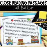 Close Reading Passages: Fall Edition