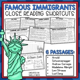 Reading Comprehension Passages - Famous Immigrants - Close Reading Shortcuts