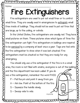 Close Reading: Fire Safety