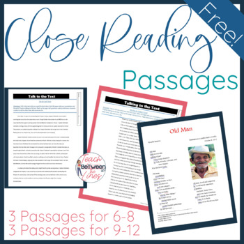 Close Reading Passages- Freebie!