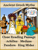 Greek Myths Reading Comprehension Passages & Questions Pack