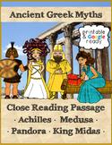 Greek Myths Reading Passages Bundle - Printable & Distance Learning