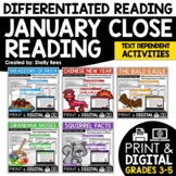 Reading Comprehension Passages and Questions - January Close Reading Bundle