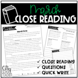 Close Reading Passages | March Close Reading | Spring Close Reading Passages
