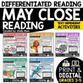 Reading Comprehension Passages and Questions - May Close Reading Bundle
