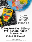 Close Reading Passages: Native American Cultural Groups