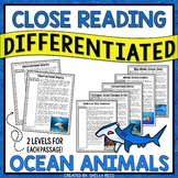 Ocean Animals Reading Comprehension Passages Bundle