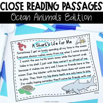 Close Reading Passages: Ocean Animals Edition