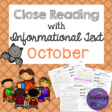 Close Reading Passages: October Edition!