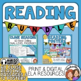 Close Reading Passages & Posters Bundle Distance Learning