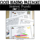 Close Reading Passages: Seasonal Combination (Only the Passages!)