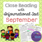 Close Reading Passages: September Edition!