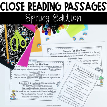 Close Reading Passages: Spring Edition