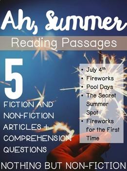 Summer Reading Passages ::FREEBIE::