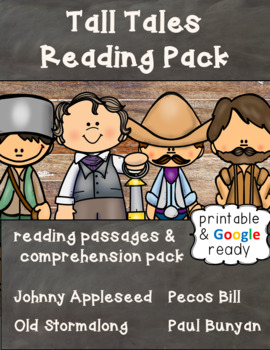 Close Reading Passages - Tall Tales Bundle