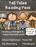 Tall Tales Reading Comprehension Passages & Questions Pack