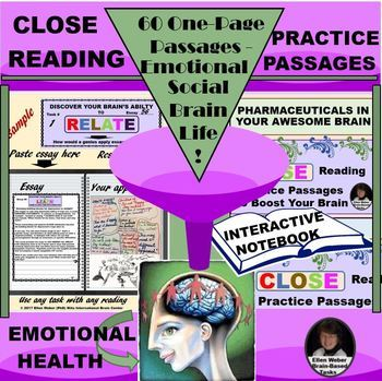 Close Reading Passages - Teens' Emotional, Social, Academic Brainpower