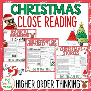 Four Close Reading Passages with Text Dependent Questions - Christmas (US)
