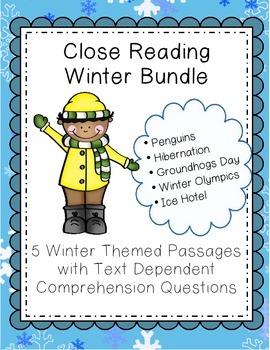 Close Reading Passages - Winter Bundle