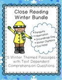 Winter Reading Comprehension Passages & Questions Pack