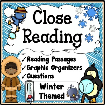 Winter Activities {Winter Close Reading Passages, Questions & Organizers}