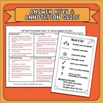 Close Reading Fall   Close Reading Autumn with Text Dependent Questions