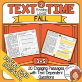 Fall Comprehension and Close Reading Passages with Text Dependent Questions